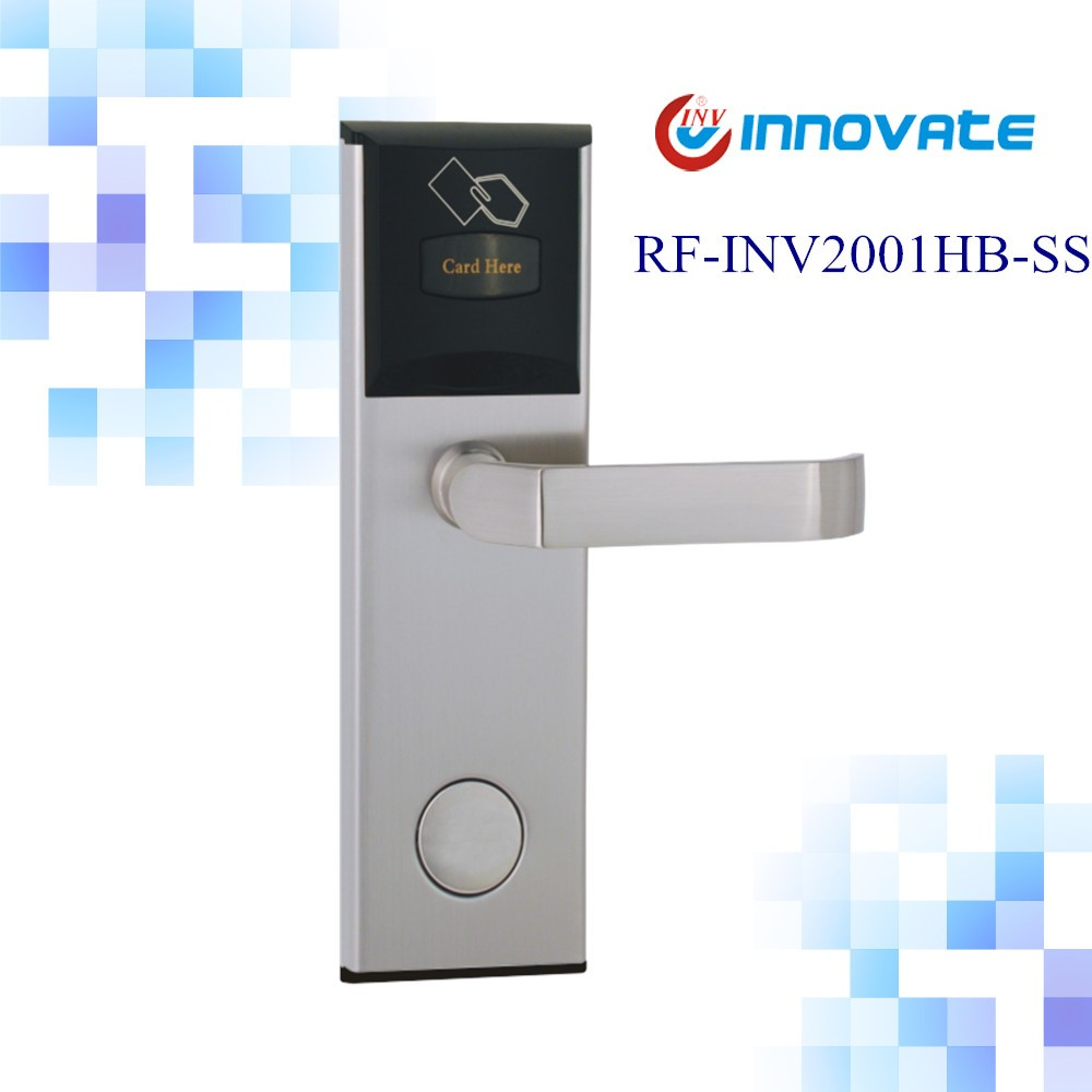 Italy popular SS zinc alloy small panel lever handle lock smart door RFID hotel lock
