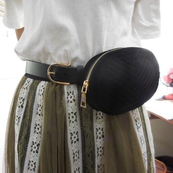 1a59664cfad Fm Brand Black Genuine Leather Velvet Waist Belt Bag For Women Ladies  Custom Fashion Fanny Packs - Buy Velvet Belt Bag,Leather Belt Bag,Lady  Fanny ...
