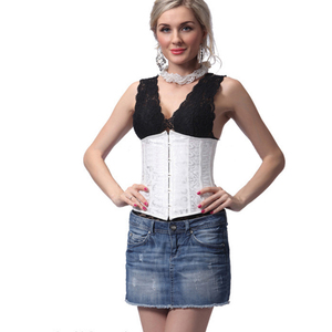 1a3f151c99a Women s Fashion Lady Sexy White and black Lingerie Corset For Tops Bridal  Bustier Underwear