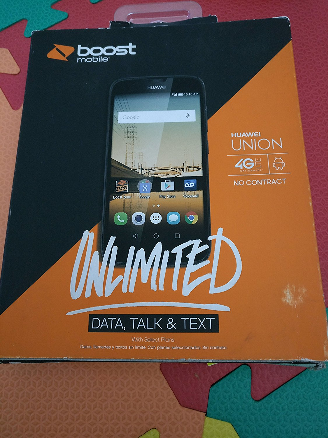 Huawei Union No Contract Phone - Black - (Boost Mobile)