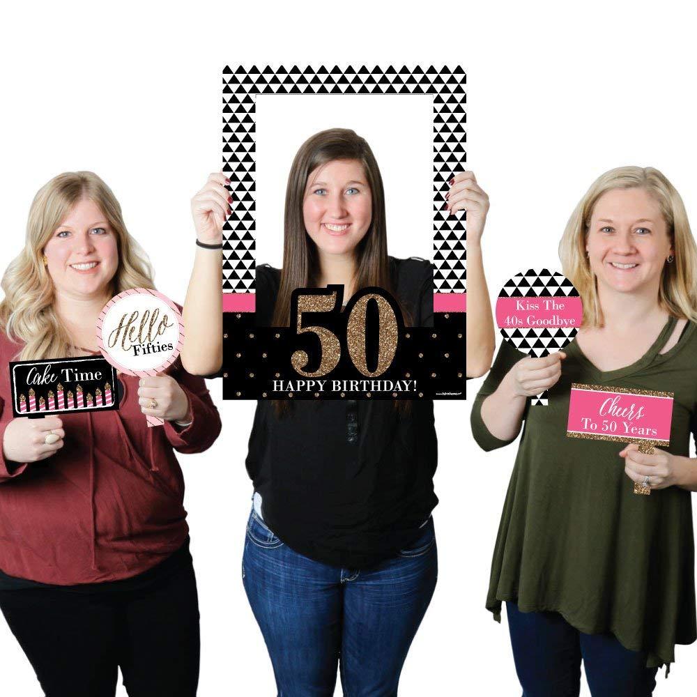 Big Dot Of Happiness Chic 50th Birthday