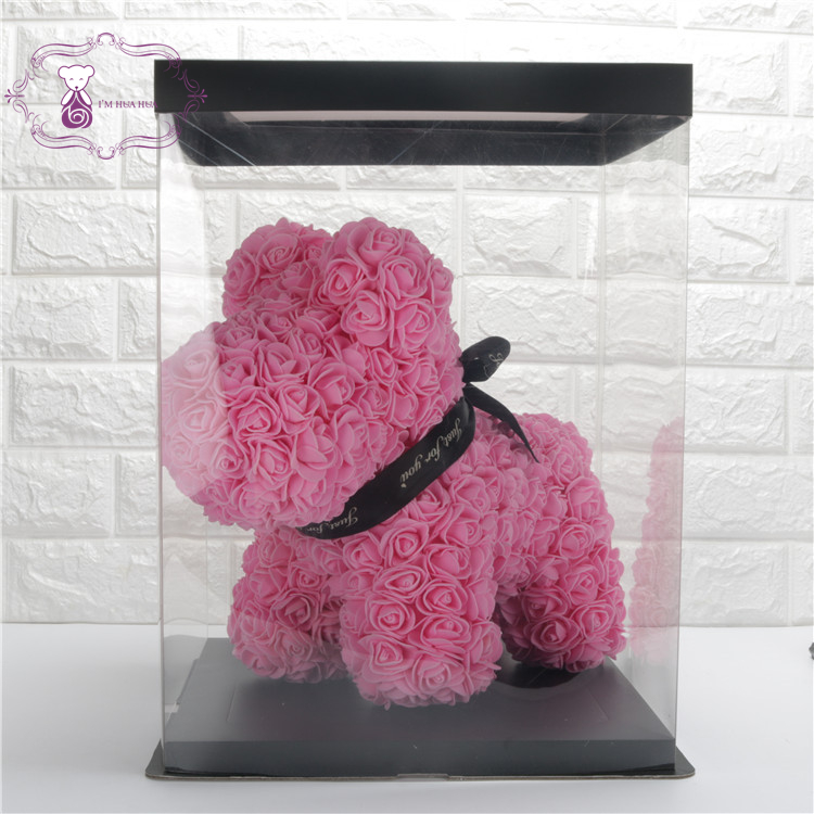 Teddy rose dog valentine's day gift
