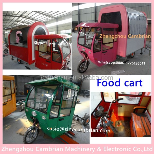 Big innovation tricycle mobile food cart for sale for DIY selling