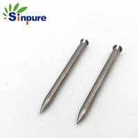 Sinpure Customized stainless steel taper sealed end small tube for water sensors