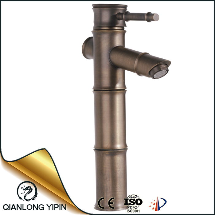 Classic bamboo faucet basin mixer tap 355mm high deck mounted water tap types CE certificate european bath faucet