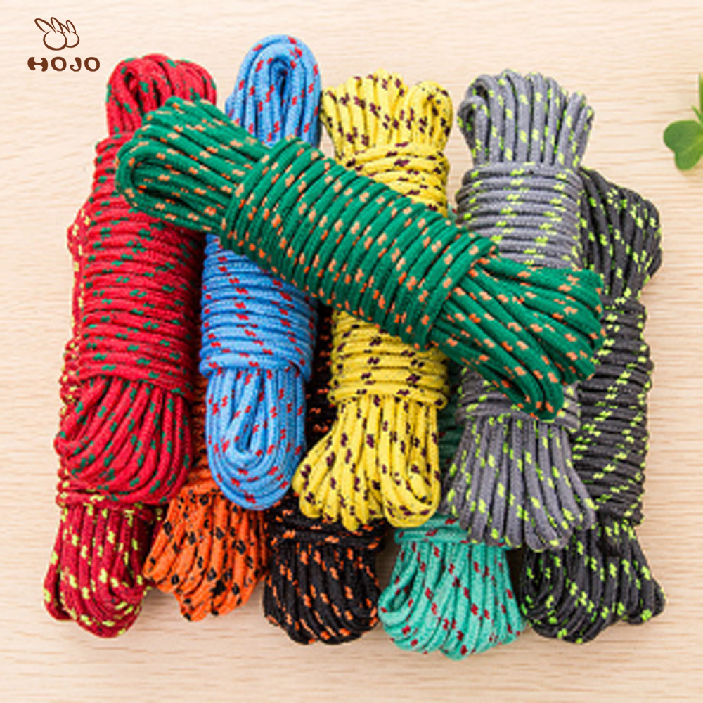 wholesale colored braided pull flat nylon rope