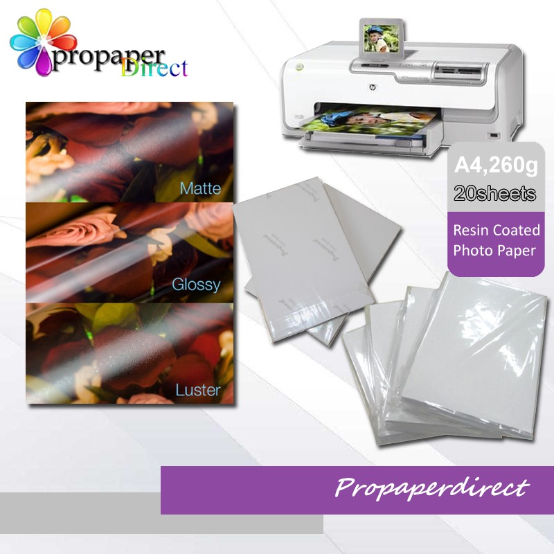 Premium waterproof 260g rc luster photo paper