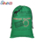 China products stock Christmas stocking green cotton canvas drawstring bag