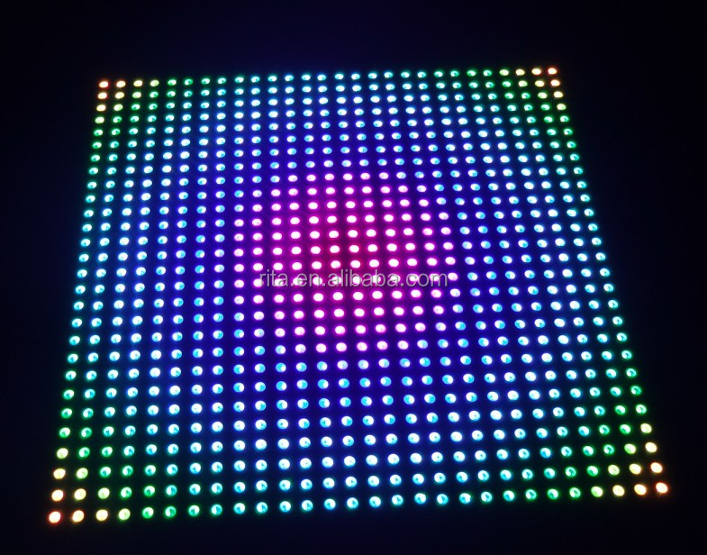 P10 APA102 full color RGB indoor LED Display unit panel,28*28pixels,280mm*280mm;Aluminum plate
