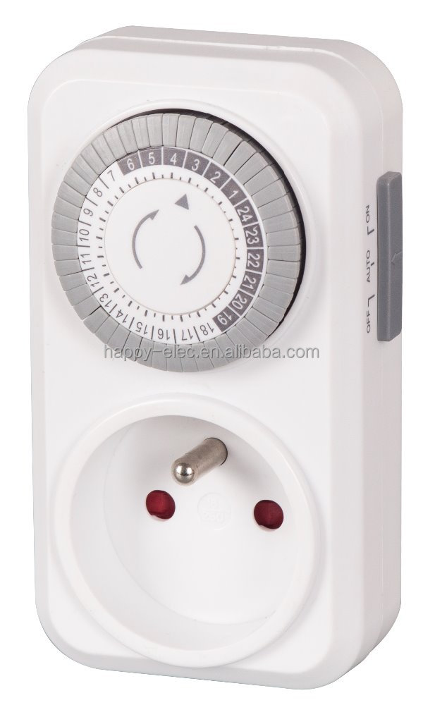 remote France type plug in Daily countdown socket mechanical timer
