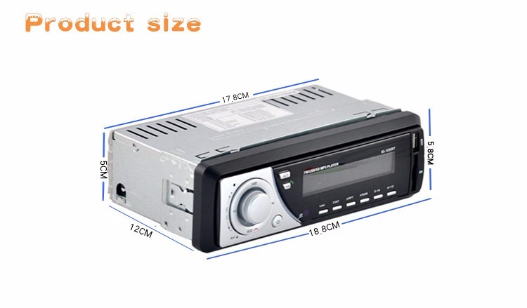Car Radio Auto Audio Stereo MP3 Player Support FM SD AUX USB Interface for Vehicle In-Dash 1 Din Input Receiver Device