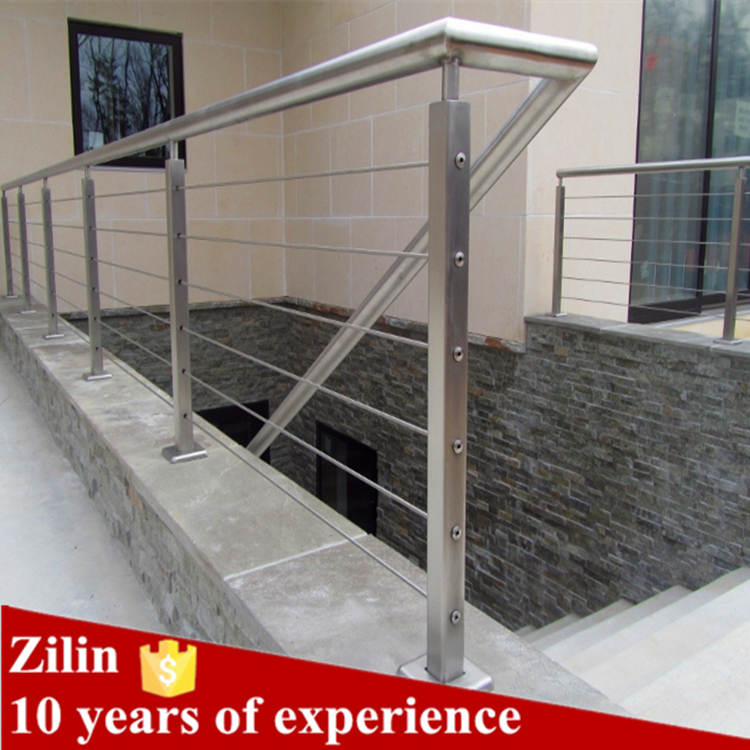 High quality stainless steel square pipe railing for stair