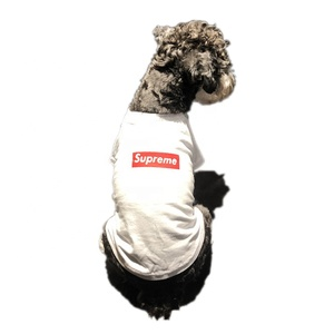 Custom Summer Soft Cotton Pet Dog Clothes T-shirt