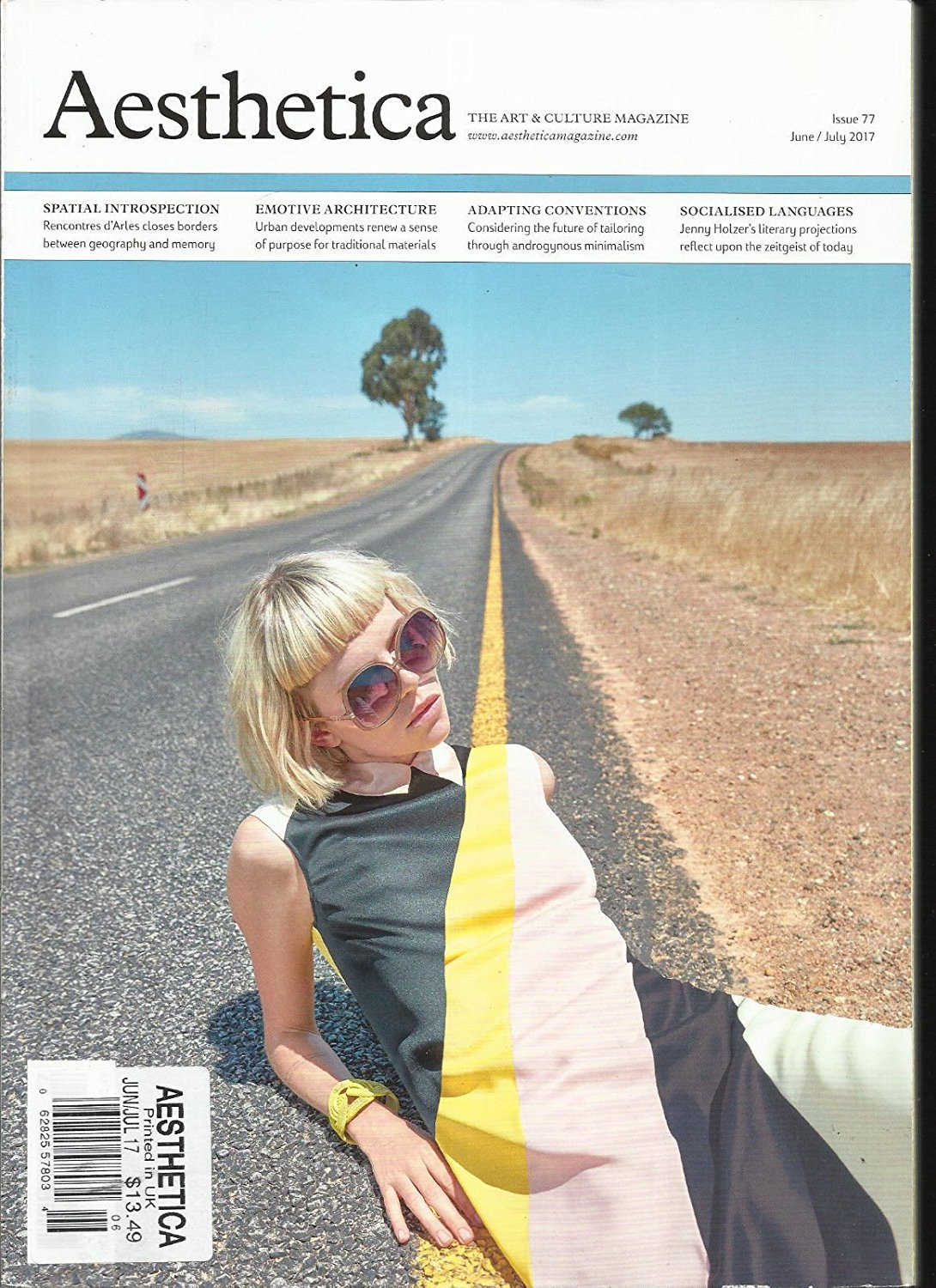 AESTHETICA, THE ART & CULTURE MAGAZINE JUNE / JULY 2017 ISSUE, # 77
