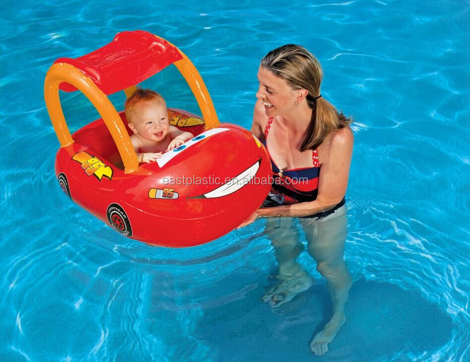 Cool Inflatable Baby Pool Water Float With Sunshade Canopy
