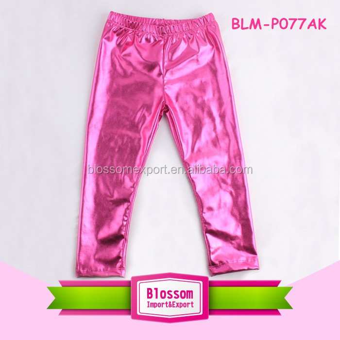 New Style Baby Toddler Girls Little Leggings Metallic Baby Birthday Pants