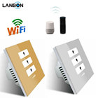 No need host server Smart Home WiFi Wireless 3 gang Switch Apple Android APP Control compatible with google and amazon