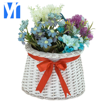YRMT,2018 new fashion natural willow big flowers pots for planting flowers