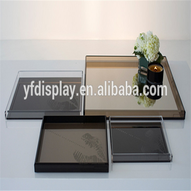 Acrylic Clear Serving Tray Antique Metal Serving Trays