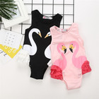 2018 Children's Swimsuit Girls Cute Pink Flamingo Baby Girl Baby Siamese Vacation Beautiful Baby Swimwear