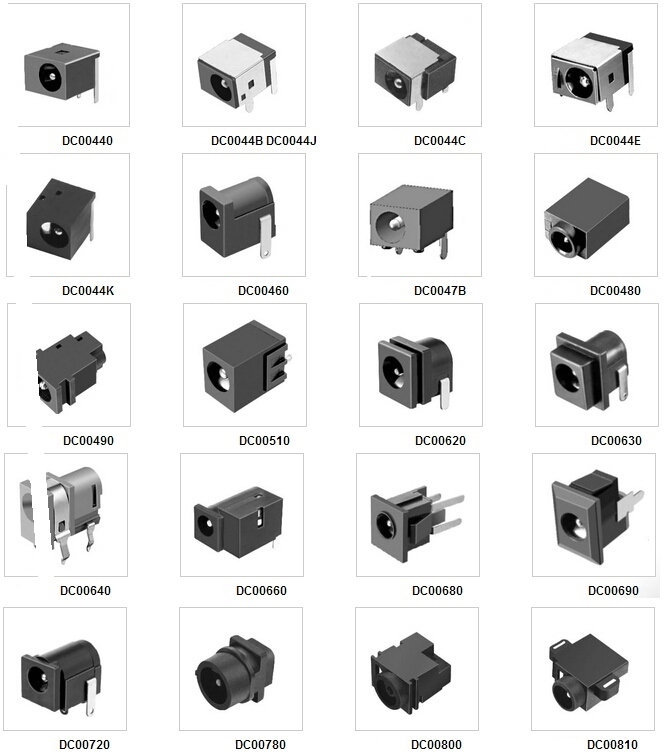 Dc022 2 1mm 2 5mm Dc Jack Socket Pcb Panel Mount Dc Power