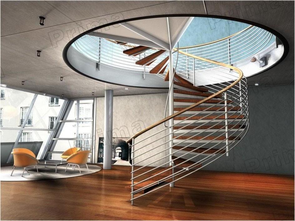 instalacin diy acero escalera espiral diseo haz barandilla de acero inoxidable de cristal