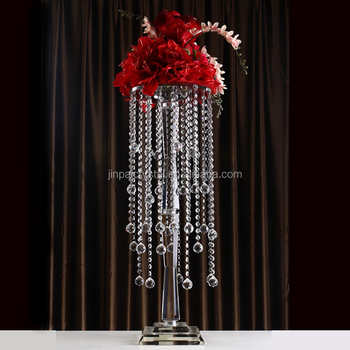 Shinning Crystal Candelabra With Flower Bowl Glass Votive Candle