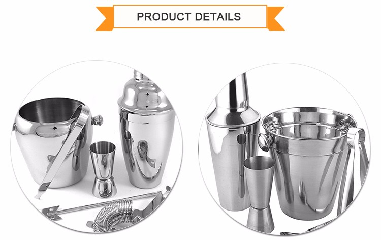 Stainless Steel Shaker Cocktail Bar Tool Set