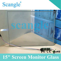 "15"" LCD monitor Glass transparent glass"