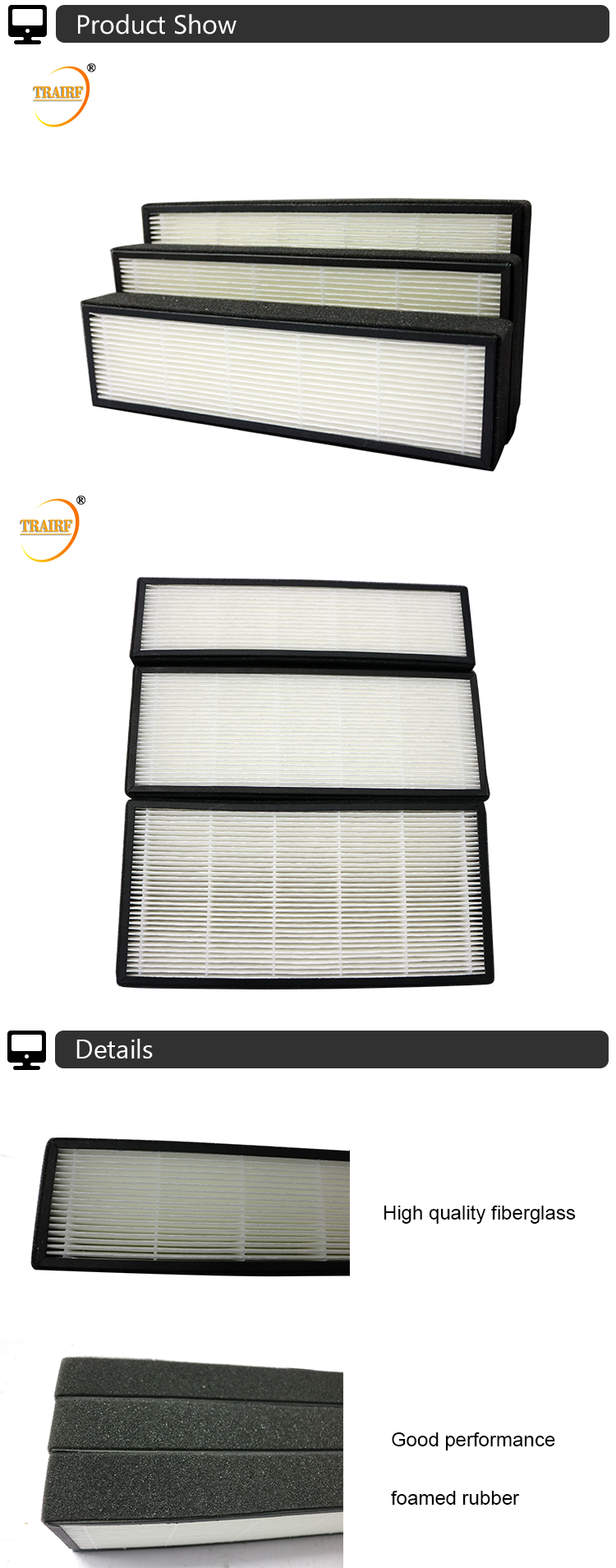 Hepa H13 Air Filter for home air purifier filter vacuum cleaner hepa filter