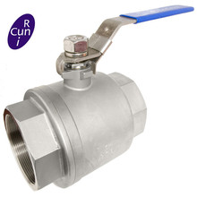 Stainless Steel Penuh <span class=keywords><strong>Port</strong></span> Mengambang Threaded 2 PC Ball Valve