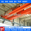 CE certificate double girder remote control factory overhead industry crane