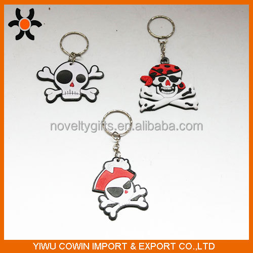 2016 Customized promotional heart 3D soft PVC key rings
