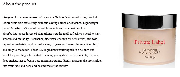 Lightweight Moisturizer - Retinol Moisturizer Facial Cream With Aloe Vera and Vitamin E for a Most Effective Anti Wrinkle
