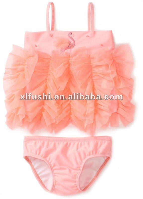 bambino ragazze neonato fenicottero flirt 2 pezzi costume da bagno tankini