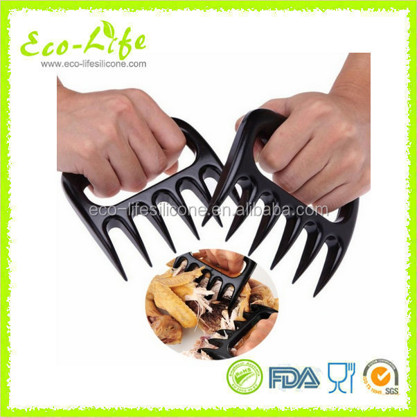 2pcs/pair Bear Meat Claws Pork Chicken Fork Separator BBQ Barbecue Tools