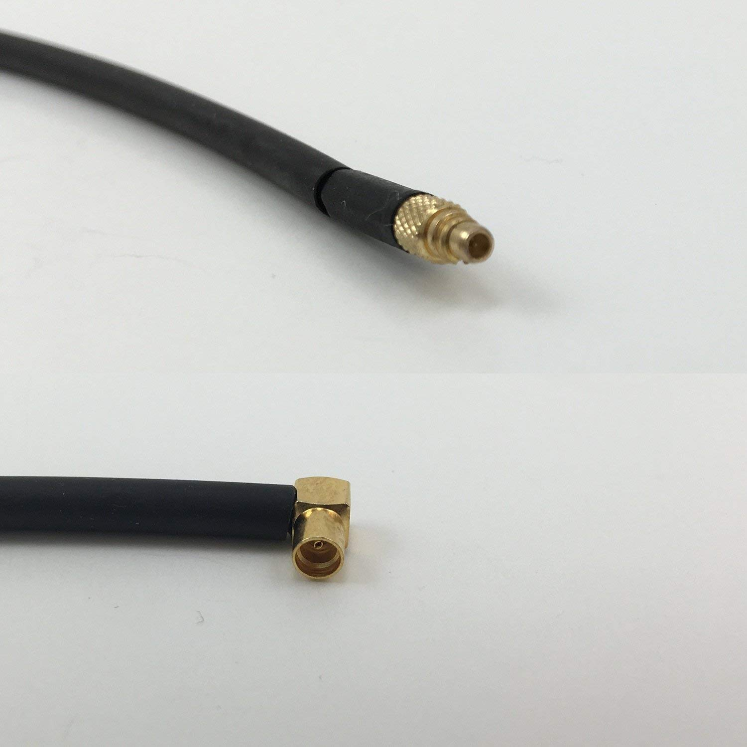 12 inch RGU178 MMCX MALE to MMCX FEMALE ANGLE Pigtail Jumper RF coaxial cable 50ohm High Quality Quick USA Shipping