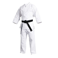 Light weight Martial Arts Suits White Gi traditional sport 12oz karate uniform for sale