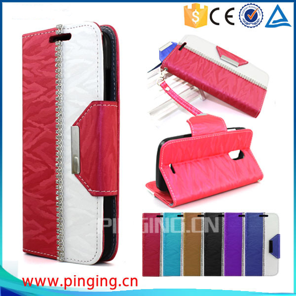 Fashion new idea wallet style leather case for wiko k kool , with card slots case for wiko k kool