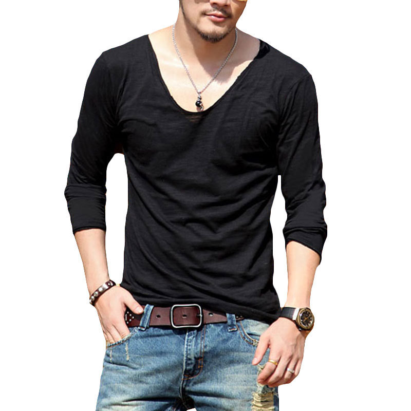 Fashion Men's Slim Fit Long Sleeve Slim T-shirts Casual Tee Shirt Tops. C $ New Fashion Men Long Sleeve Cotton T-Shirts V-Neck Tops Casual Slim Fit T-Shirt Please include your ebay item number or order number in all communications. Feedback.