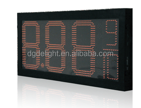outdoor digital clock with temperature/ 12 inch gas price led signs/ digital price display for supermarket