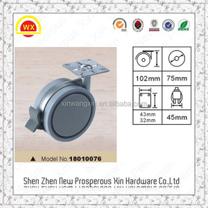 China hot sale hospital bed caster /wheelchair caster wheel