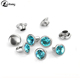High quality colourful decoration rhinestone rivet stud for leather handbag