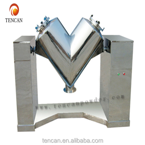 China Tencan lab dry powder mixer ,v shape powder mixer