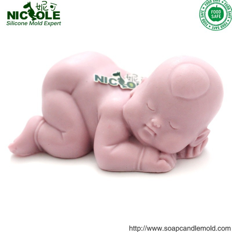 R1224 wholesale decorative silicone 3D baby boy soap molds <strong>mould</strong> for clay
