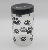 1000ml PET plastic large jar 1000ml dogs food jar treat jars for dogs