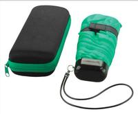 very popular super green mini 5 folding umbrella pocket umbrella with pouch