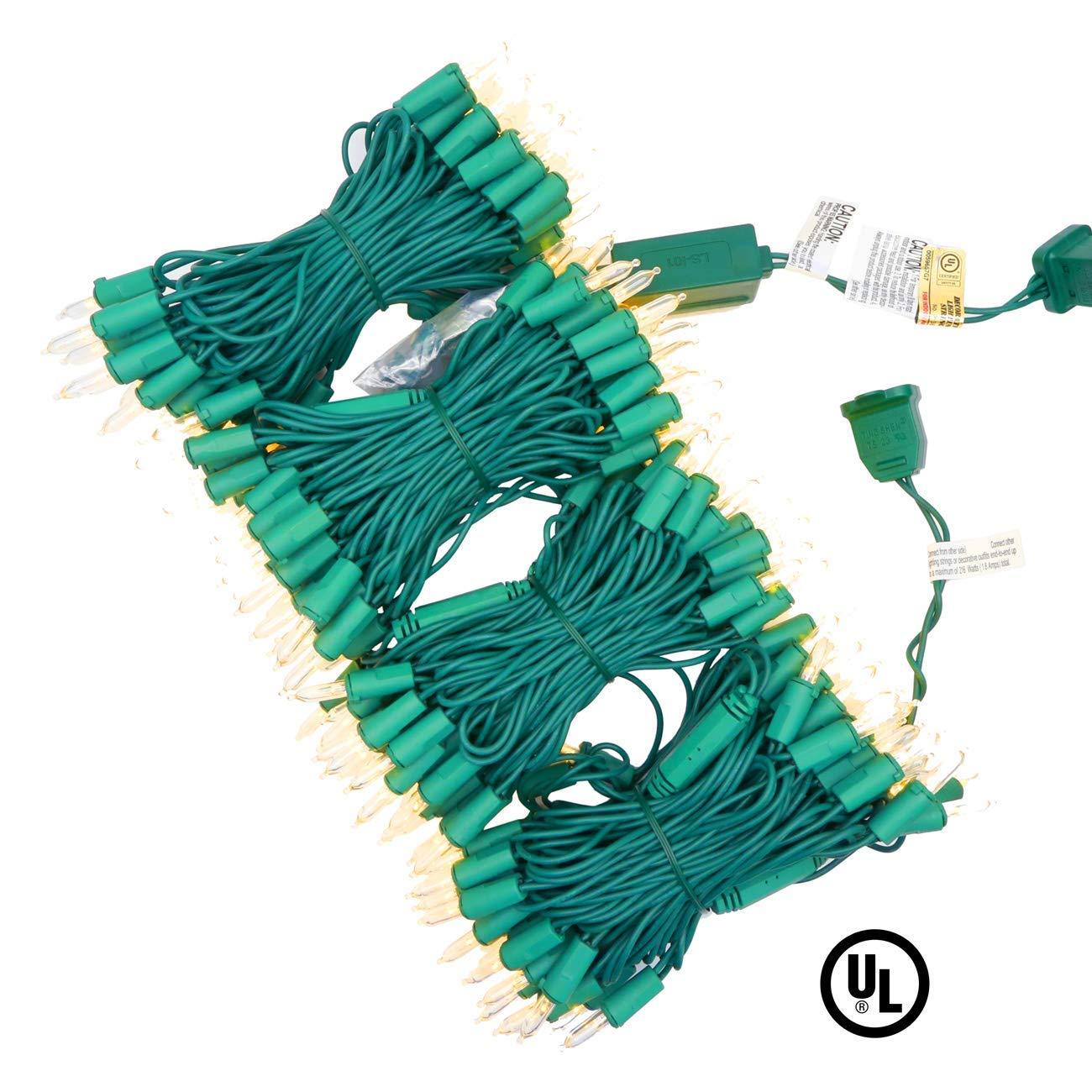 Commercial Grade Stay Lit Christmas String Lights, UL Certified 66Ft 200 LED Yuletide Decor Lights , Fairy Lights for Christmas Tree Garden Home Decor, Warm White(Sunshine) Green Wire (M4 LED Bulbs)