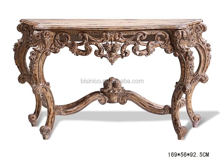 Beautiful Glorious Art Decor Console Table, Vintage Wooden Living Room Console Table  (BF01 DC002