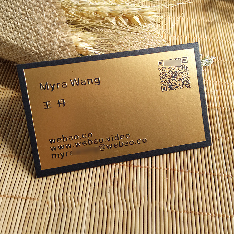 eco friendly promotional gift card manufacturer luxury privilege pop up foil embossed paper business card printing